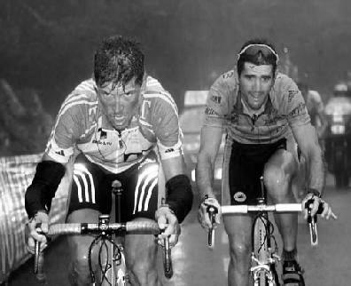 Ullrich y Olano protagonizaron un bonito duelo en la etapa.