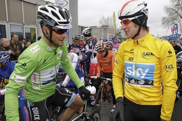 Tom Boonen y Bradley Wiggins, dos de nuestros protagonistas del año.