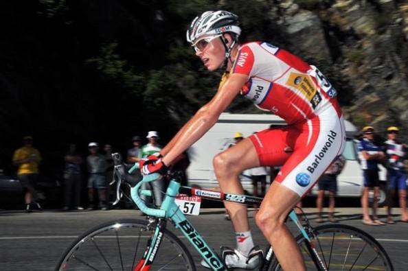 Chris Froome durante una de las etapas del Tour de Francia 2008.