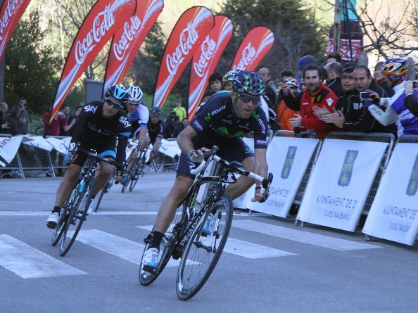 Valverde no defraudó a nadie y se ganó el Trofeo Tramuntana por delante de Henao y Gesink (Foto: Unisportprensa).