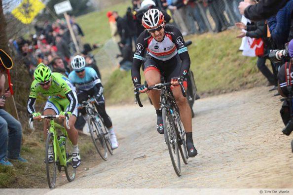 Sagan se tuvo que conformar con ver el dorsal de Cancellara en Flandes.