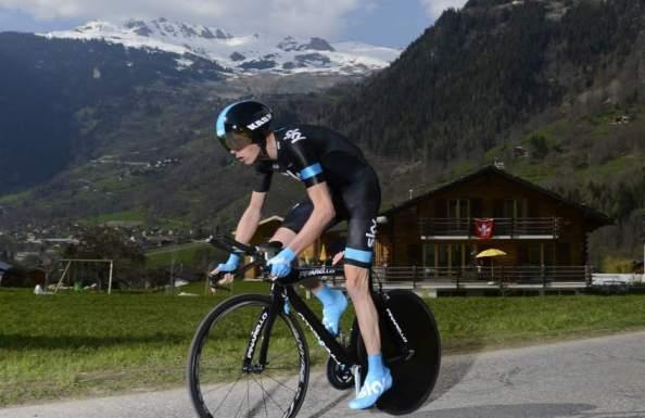 Exhibición de Chris Froome en el prólogo del Tour de Romandia (Foto: 20minutos.es)