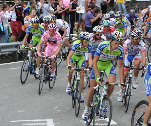 El Giro 2010 fue el gran momento de la carrera deportiva de David Arroyo, donde acabó en el podium (foto: Graham Watson)