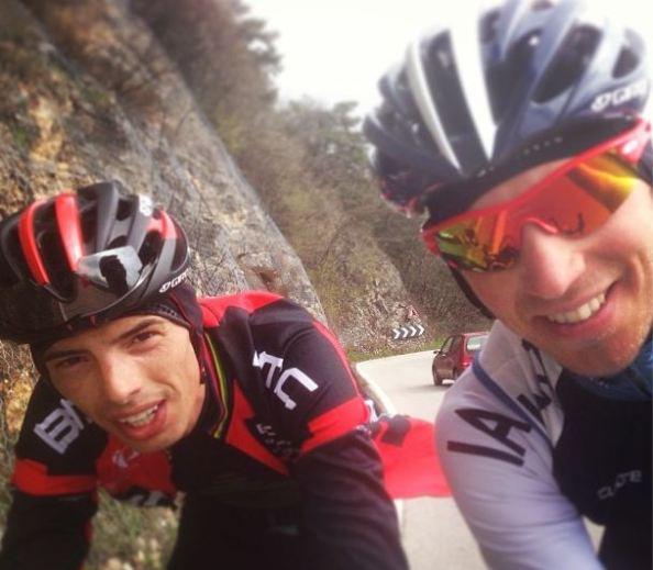 Imagen del entrenamiento de Bandiera y Ballan (foto: Instagram Marco Bandiera)