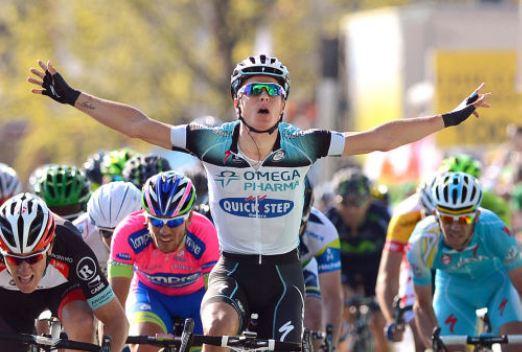 La velocidad de Meersman ha sido protagonista en las dos jornadas de sprint de Romandia, aunque solo haya ganado en una (Foto: esciclismo.com)