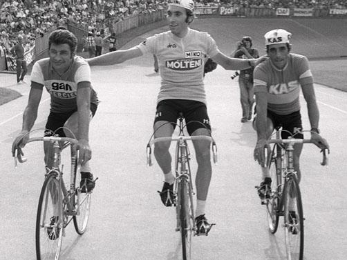 Merckx triunfó en la mayoría de escenarios.