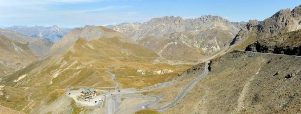 La impresionante panorámica del Col du Galibier.