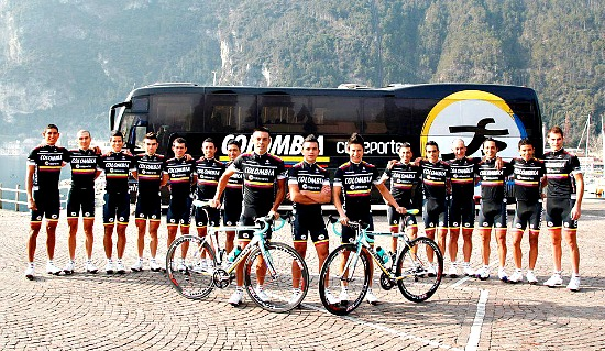 El Colombia Coldeportes está dispuesto a dar mucha guerra en la montaña del Giro 2013 (foto: amigosenruta.blogspot.com)