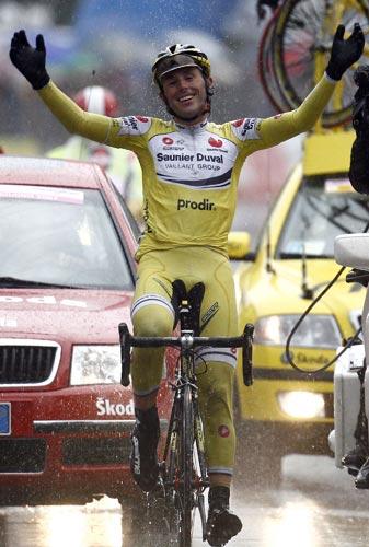 Iban Mayo ganador de una etapa en la edición de 2007