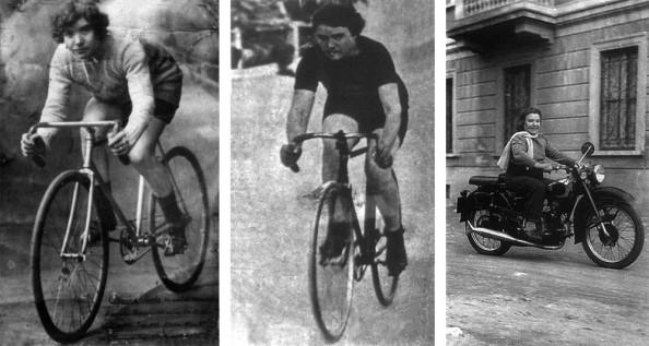Alfonsina siempre tuvo predilección por las dos ruedas (foto: pedaleros.foroactivo.com)