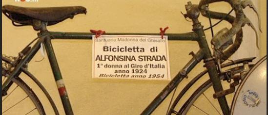 Bicicleta con la que Alfonsina compitió en el Giro de 1924 (foto: sportgeschiedenis)
