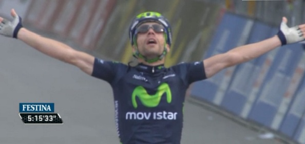 Segunda victoria del italiano y cuarta del Movistar Team