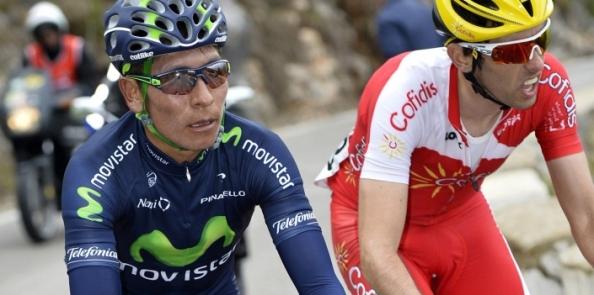 Dani Navarro, con Quintana, en pleno esfuerzo en la París Niza de este año.