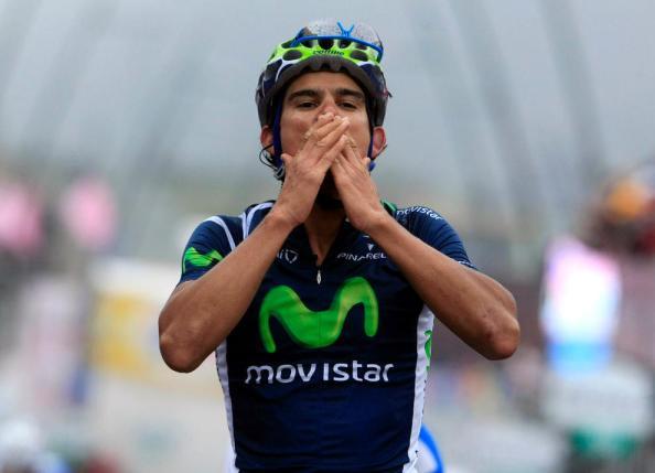 La victoria más importante hasta el día de hoy para Andrey Amador fue en el Giro 2012 con su triunfo en Breuil-Cervinia (Foto: diariodenavarra.es)