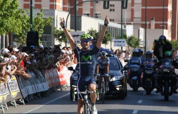 Rojas ganó frente a Contador el título de campeón de España en 2011 (foto:movistarteam.com)