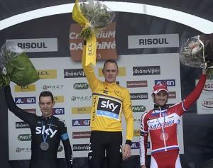 Dani Moreno, flamante tercer clasificado en Dauphiné.