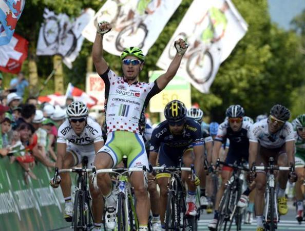 Imagen de la victoria de Sagan en la octava etapa del Tour de Suiza