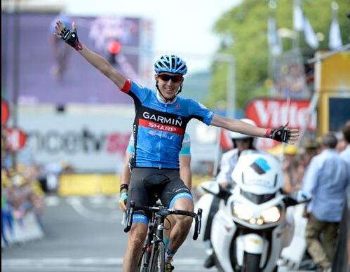 Gran victoria del Garmin en una etapa muy movidita.