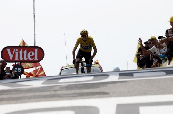 Froome haciendo leyenda hoy en el Mont Ventoux