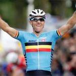 Gilbert no ha lucido mucho el maillot de campeón del mundo