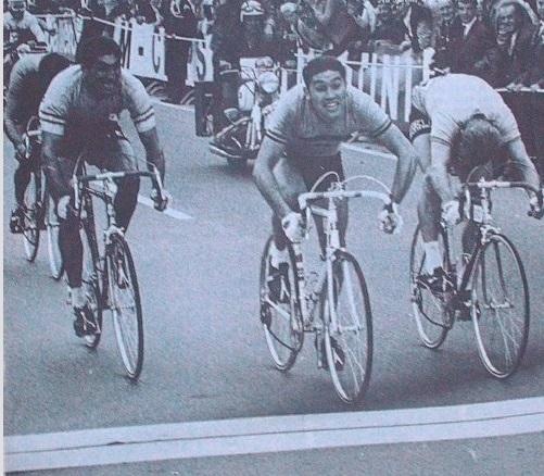 Su primera victoria al sprint, en 1967.