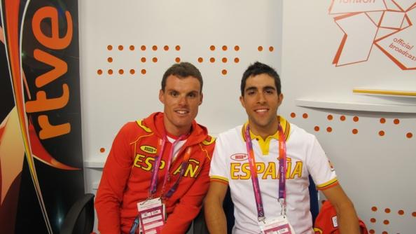 Luis León Sánchez yy jonathan Castroviejo en los pasados Juegos Olímpicos de Londres.