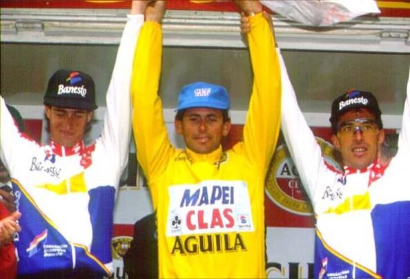 Podium final de la Vuelta a España 1994 (foto:pedrodelgado.com)