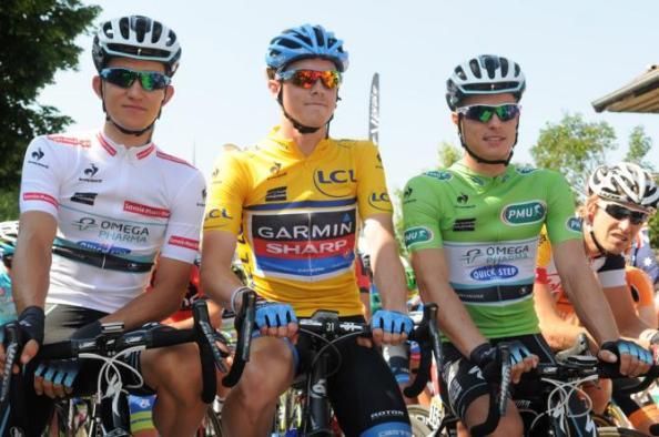 Rohan Dennis ya sabe lo que es lucir el maillot amarillo de Dauphiné.