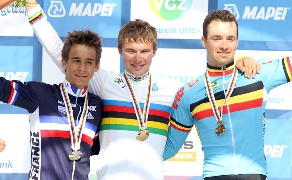 Lutsenko compartió el podio en 2012 con Coquard (Francia) y Van Asbroeck (Bélgica) (Foto: anfiand.bligoo.com)