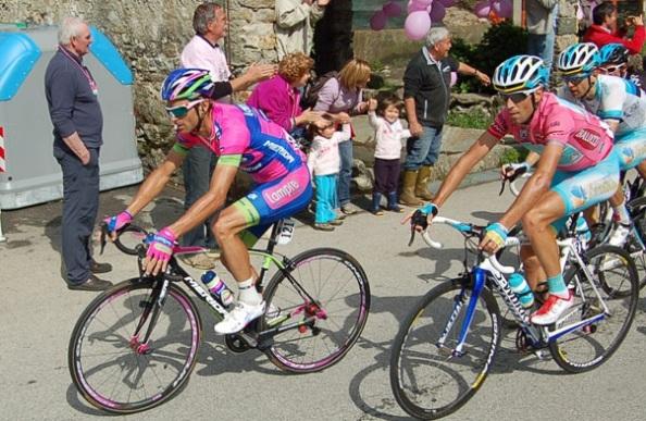 Nibali y Scarponi son viejos conocidos.