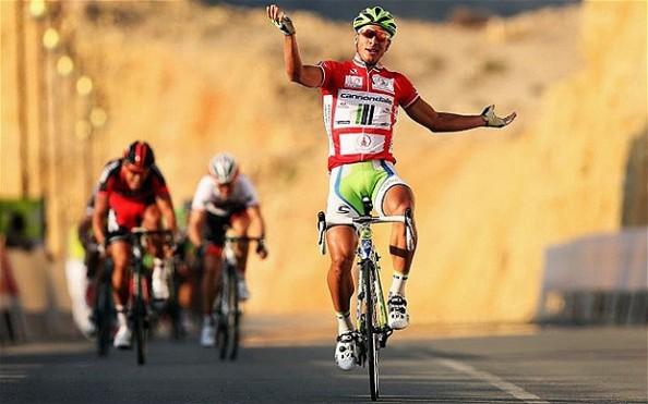 Sagan celebrando una victoria en el Tour de Omán (foto:telegraph)