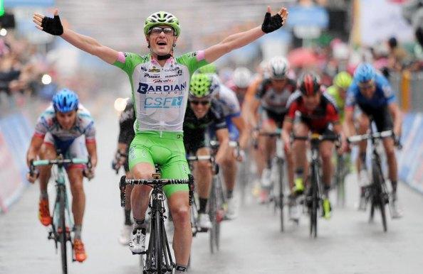 Battaglin consiguió para el Bardiani una gran victoria en el Giro 2013 (foto:colombia.com)