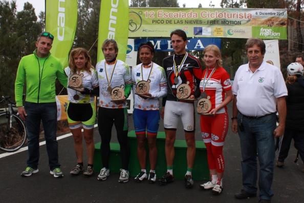 Primeros clasificados en categoria masculina y femenina. (Foto: José Arturo Castro).
