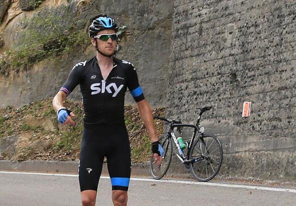 Nada le salió de cara al bueno de Wiggo en el Giro. Pero nunca perdió la clase. (foto vía cyclingnews)