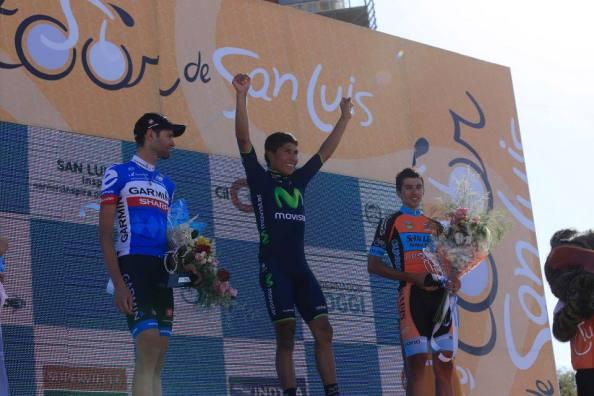 Foto final del podium del Tour de San Luis 2014