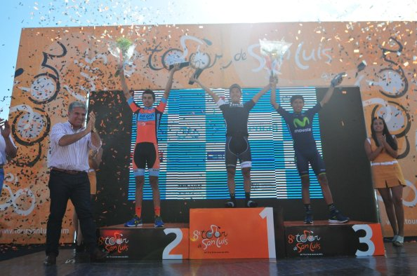 Foto de los tres protagonistas de este Tour de San Luis (foto:ciclismodecolombia.com)