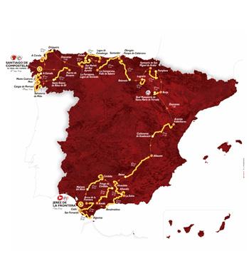 Mapa oficial del recorrido de  la Vuelta a España 2014 (foto:lavuelta.com)