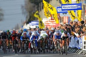 El sprint es muy usual en la Kuurne-Bruselas-Kuurne