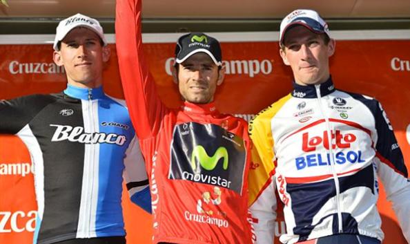 Valverde, Mollema y Van den Broeck en el podium de 2013 (foto:Roberto Bettini)
