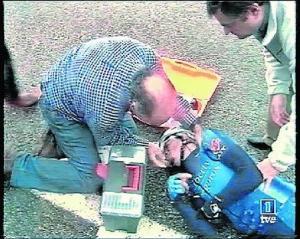 Uno de los momentos más duros de Contador. Vuelta a Asturías 2003