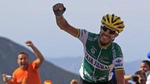 Antonio Piedra, en su victoria más importante como profesional en la Vuelta 2010 (foto:rtve.es)