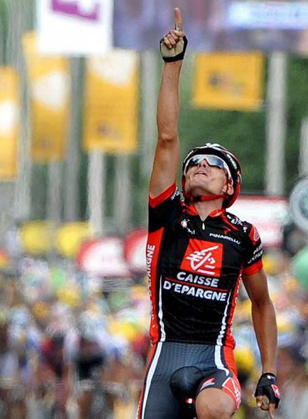 Luisle dedicando el triunfo en el Tour a su hermano fallecido