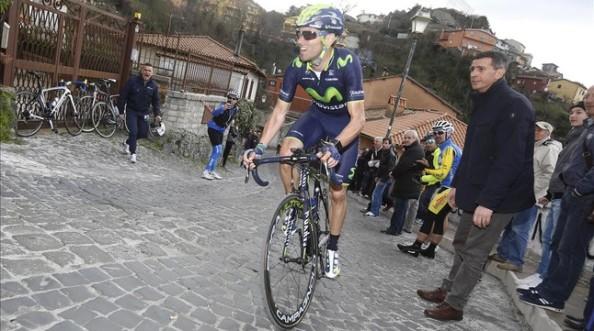 Valverde atacando en Roma Máxima en la zona de adoquín (foto:Roberto Bettini)