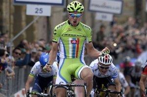 Sagan con rabia celebrando su triunfo (foto:thestate.com)