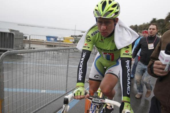 Sagan tras finalizar segundo en Milán-San Remo 2013 (foto: Roberto Bettini)