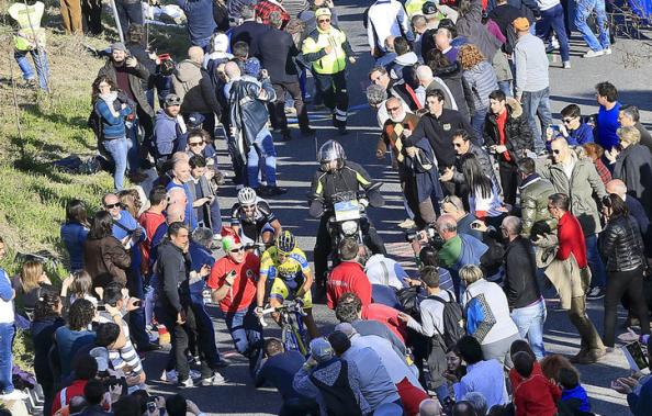 Contador en la ya mítica jornada a Guardiagrele (foto: Team Sky)