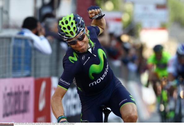 Valverde tras su exhibición en Roma Maxima (foto:cyclingnews.com)