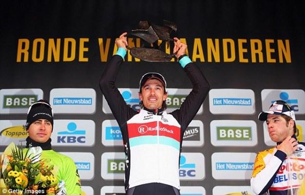 En 2013, Sagan también finalizó segundo en otro monumento: el Tour de Flandes
