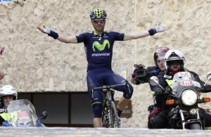 Valverde celebrando su triunfo (foto:lainformacion.com)