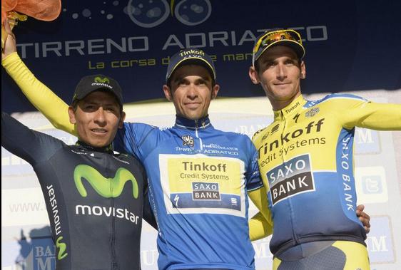 Podium Tirreno Adriático 2014